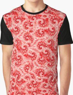 Red Tie Dye Print Graphic T-Shirt