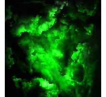 Envy - Abstract In Neon Green And Black Photographic Print