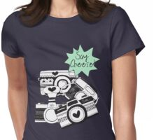 Vintage Rustic Cameras Say Cheese Womens Fitted T-Shirt
