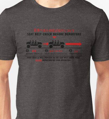 Seat Belt Check Unisex T-Shirt