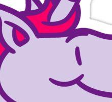 unicorn unicorn face head cartoon comic ride gallop pony horse funny sweet cute Sticker