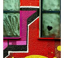Graffiti wall art. Heart. Photographic Print