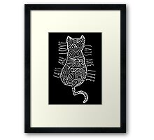 cats are love, cats are life (white)  Framed Print