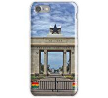 Ghana, Black Star Gate, Accra and Ghana Flags iPhone Case/Skin