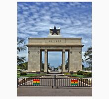 Ghana, Black Star Gate, Accra and Ghana Flags Unisex T-Shirt