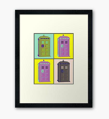TIMEY WIMEY WARHOL TARDIS 1 Framed Print
