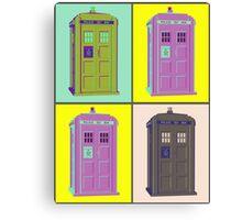 TIMEY WIMEY WARHOL TARDIS 1 Canvas Print