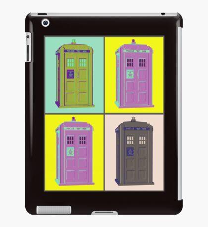 TIMEY WIMEY WARHOL TARDIS 1 iPad Case/Skin