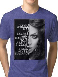 Alyssa Edwards Text portrait Tri-blend T-Shirt
