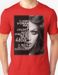 Alyssa Edwards Text portrait Unisex T-Shirt