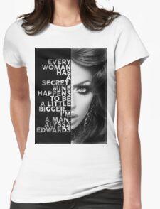 Alyssa Edwards Text portrait Womens Fitted T-Shirt