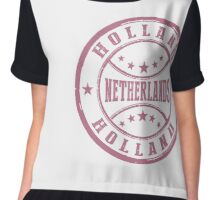 Stamp City Of Holland Chiffon Top