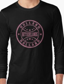 Stamp City Of Holland Long Sleeve T-Shirt