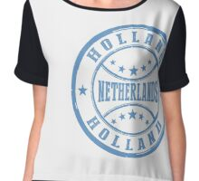 Stamp Of Holland Chiffon Top