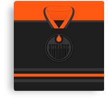 Edmonton Oilers Diehards (Black & Orange) Jersey Canvas Print