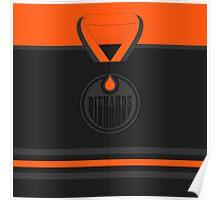 Edmonton Oilers Diehards (Black & Orange) Jersey Poster