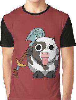 Cow Chop Shovel BG Graphic T-Shirt