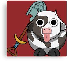 Cow Chop Shovel BG Canvas Print