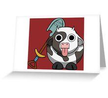 Cow Chop Shovel BG Greeting Card