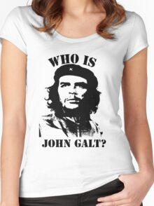 """Who is John Galt?"" - Che Women's Fitted Scoop T-Shirt"