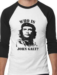 """""""Who is John Galt?"""" - Che Men's Baseball ¾ T-Shirt"""