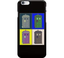 TIMEY WIMEY WARHOL TARDIS 2 iPhone Case/Skin