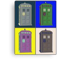 TIMEY WIMEY WARHOL TARDIS 2 Canvas Print