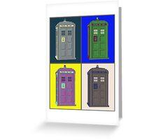 TIMEY WIMEY WARHOL TARDIS 2 Greeting Card
