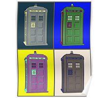 TIMEY WIMEY WARHOL TARDIS 2 Poster