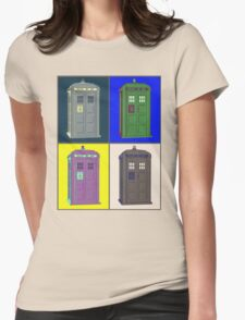 TIMEY WIMEY WARHOL TARDIS 2 Womens Fitted T-Shirt