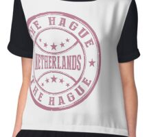 Stamp City Of The Hague Chiffon Top