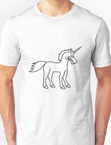 unicorn unicorn comic cartoon angry angry public stallion logo design cool sour dangerous horse T-Shirt