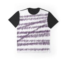 Purple and black bored scribbles  Graphic T-Shirt