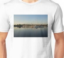 Reflecting on Yachts and Sailboats Unisex T-Shirt