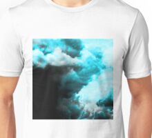 Relaxed - Cloudy Abstract In Blue And Black Unisex T-Shirt