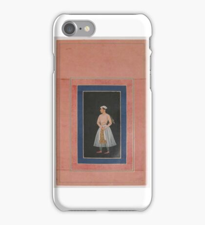 Portrait of a Prince (Shah Jahan), Folio from the Davis Album iPhone Case/Skin