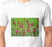 Raspberry Colored Flowers Unisex T-Shirt