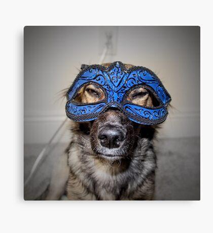 Masked Puppy Canvas Print