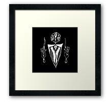 satanic dude just chillin (inverse) Framed Print