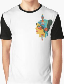 Flate Design Gypsy Tattoo Graphic T-Shirt