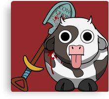 Cow Chop Bloody Shovel BG Canvas Print