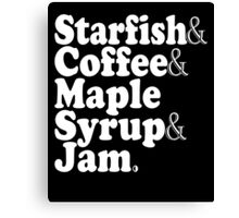 Starfish & Coffee & Maple Syrup & Jam - Prince T-Shirt Canvas Print