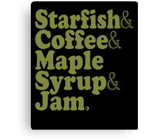 Starfish Coffee Maple Syrup Jam - Prince T-Shirt Canvas Print