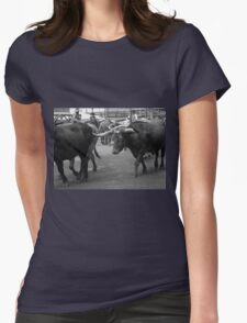 Cattle Drive 7 Womens Fitted T-Shirt