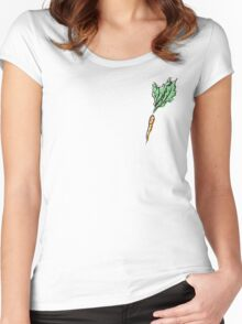 Care-not Car-rot Women's Fitted Scoop T-Shirt