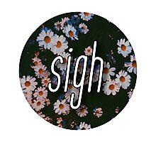 grunge flowers - sigh  Photographic Print