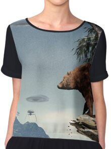 Do Aliens Get Grizzly? Chiffon Top