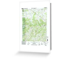 USGS TOPO Map Alabama AL Massey 304508 2000 24000 Greeting Card