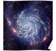 Messier 101 Spiral Galaxy Astronomy Image Poster