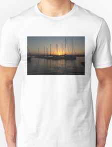 Syracuse Harbour Sunset Unisex T-Shirt